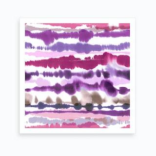 Soft Nautical Watercolor Lines Pink Art Print