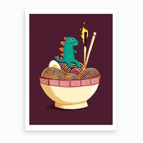Guardian Of The Noodles Art Print