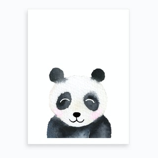 Peekaboo Panda Art Print