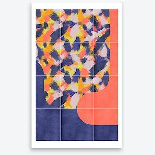 Messy Painted Tiles 03 Art Print