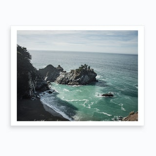 Coastal Waterfall Art Print