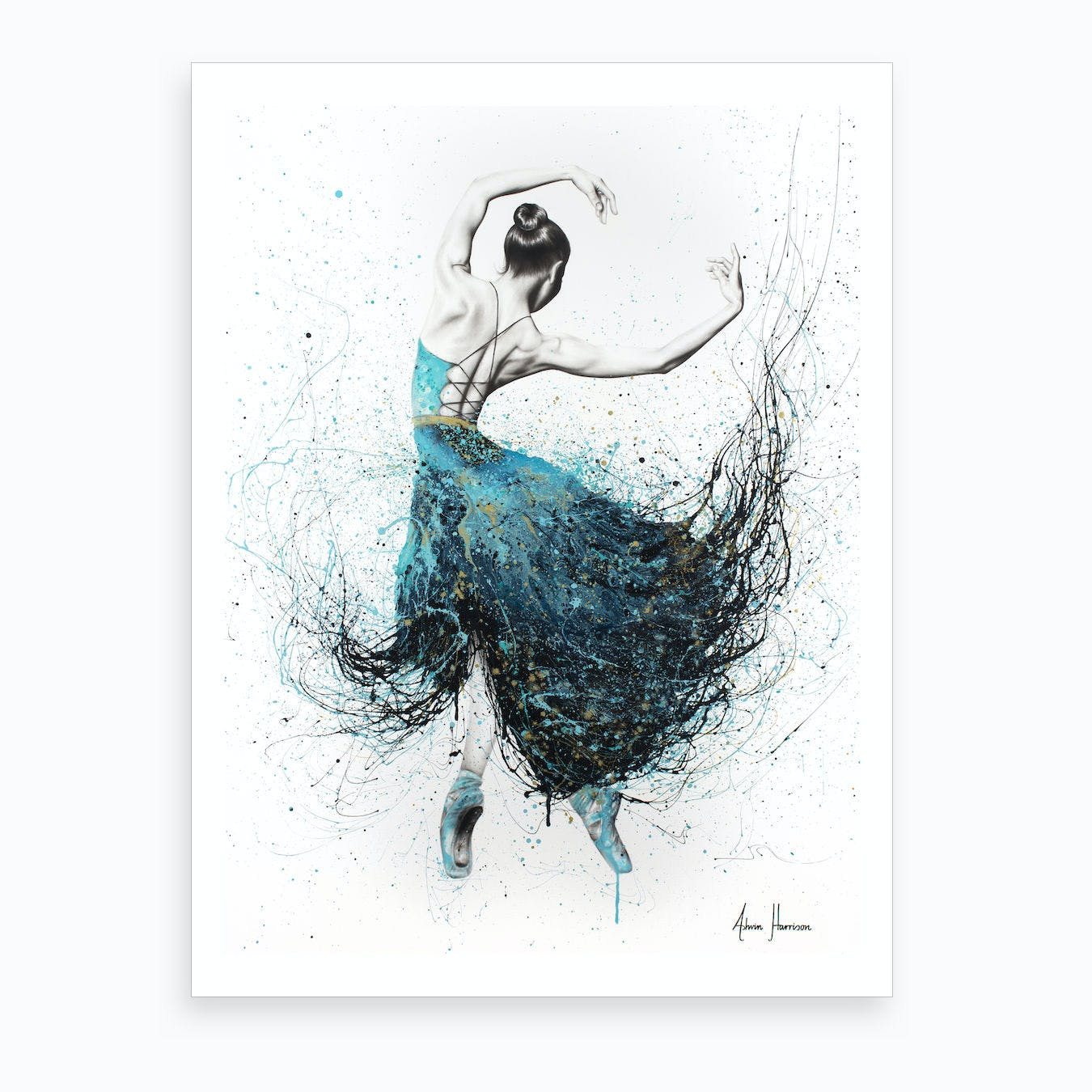 Gold River Dance Art Print