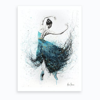 Gold River Dance Art Print