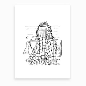 Reading In Bed Art Print