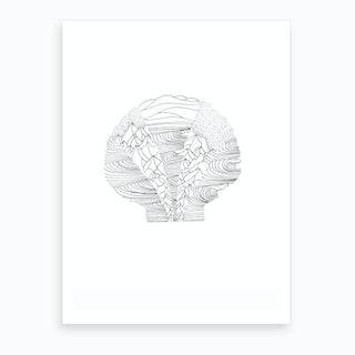 Salt And Surf   Scallop Waves Art Print