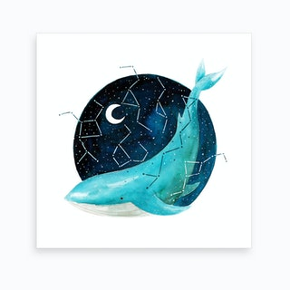 Cosmic Whale 3 Art Print