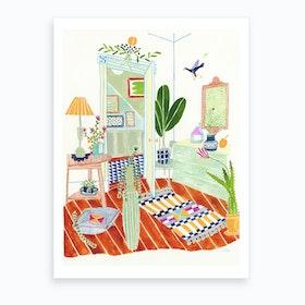 A Very Happy Home Art Print