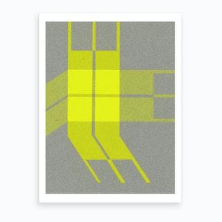 Yellow Plaid Stripes Art Print