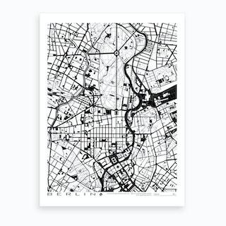 Berlin B&W Art Print