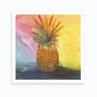 Rainbow Pineapple Art Print