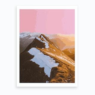 Gum Mountain Art Print