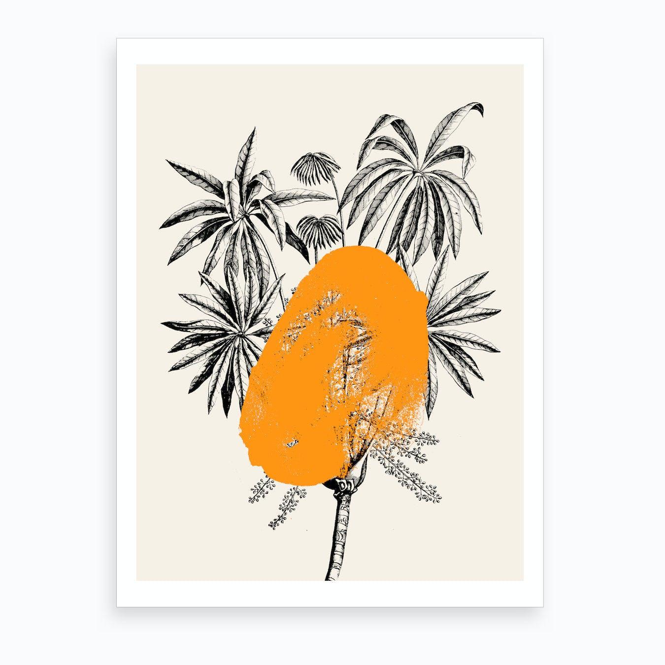 Tropical Tree Orange Art Print By Desiree Feldmann Fy