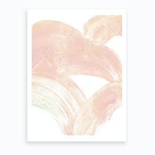 Pink Swipe Art Print
