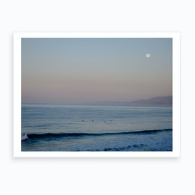 Moon Sunrise Beach Art Print
