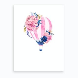 Pink Hot Air Balloon Art Print