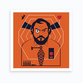 Kubrick Directors Cut Square Art Print