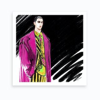 Guy In Versace Art Print