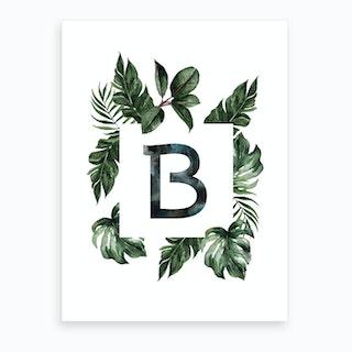 Botanical Alphabet B Art Print