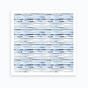 Electric Lines White Square Art Print