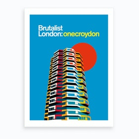 One Croydon London Art Print