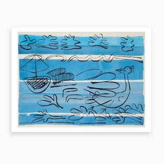 Sailing West Coast Art Print