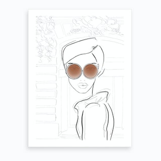 Chic Sketch Tan Art Print
