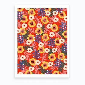 Many Flowers Art Print