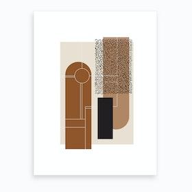 Beige & Brown Art Print