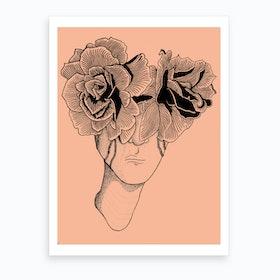 Flower Lady Art Print