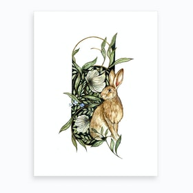 Celtic Wild Hare Art Print