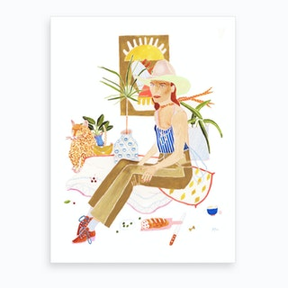 Yes Cowgirl 2 Art Print