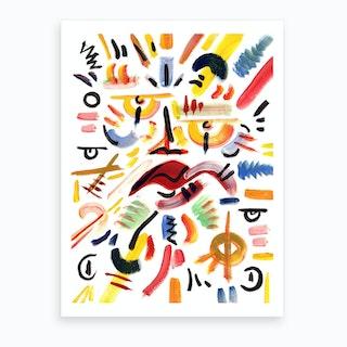 Rumble In The Jungle Art Print