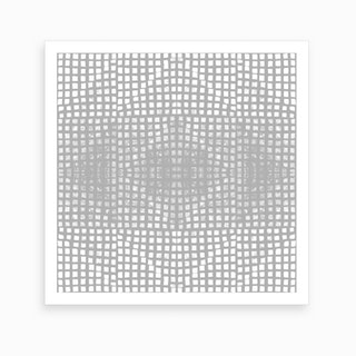 Gods Eye Block Print In Grey Art Print