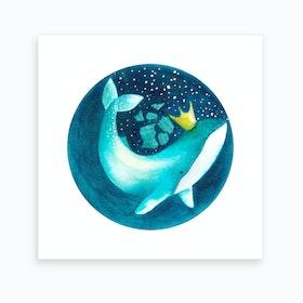 Magic Whale 2 Art Print