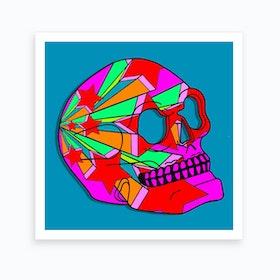 Stars Skull Art Print