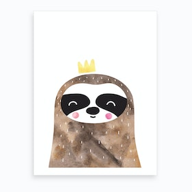Brown Sloth Art Print