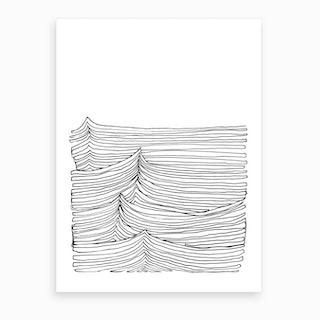 Continuous Waves Art Print