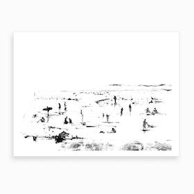 Beach People Art Print