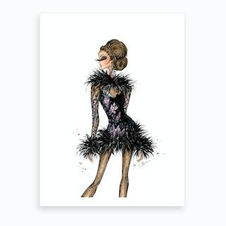 Elie Saab Feathers Art Print