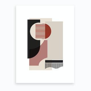 Rose, Grey & Brown Art Print