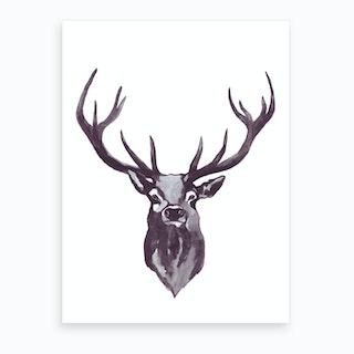 Mountain Love   Deer Head Art Print