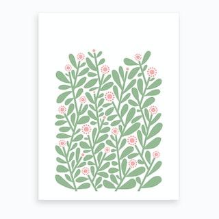 Green Shrubbery Art Print