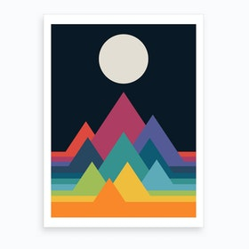 Whimsical Mountains  Art Print