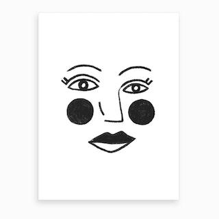 Ronda Face Art Print