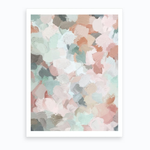 Minty Kisses Art Print