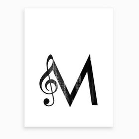M Music Art Print