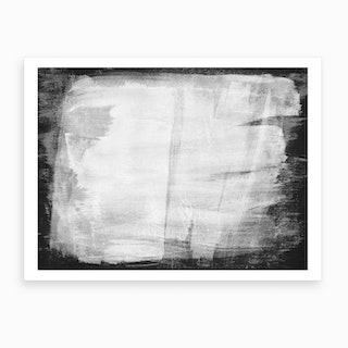 Minimal Abstract Black And White Painting 1 Art Print