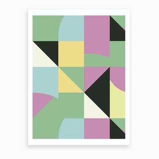 Irregular Modern Triangles Art Print