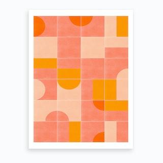Retro Tiles 03 Art Print