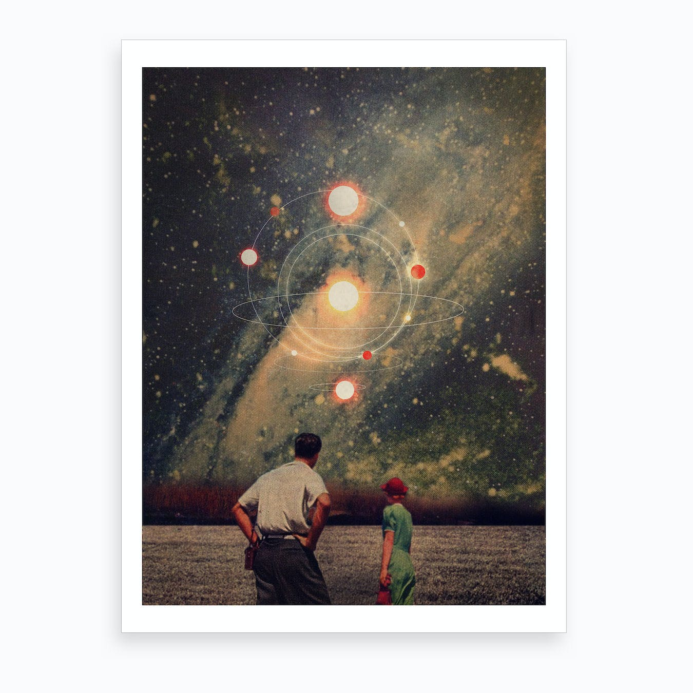 Light Explosions In Our Sky Art Print